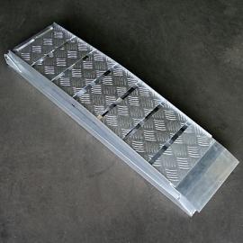 aluminium OPRIJPLAAT 225x28.5cm (opklapbaar 117.5cm) tot 600kg.