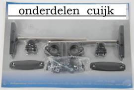 """Montageset voor de Windschermen """"Klein"""" """"Groot"""" en """"Custom"""" (voor 22mm en 25mm Sturen)"""