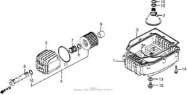 Oliefilter delen en Carter pan delen Honda CB650 CB650c 1979-198.
