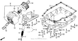 Oliefilter delen en Carter pan delen Honda CB750f CB750k CB750c 1979-1983