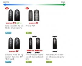 Scooterband 90/90x12 Hoop B01 Bridgestone voor/achter (b909012s)