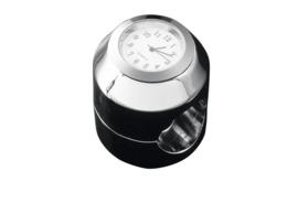 motor KLOKJE analoog chroom (voor 22 of 25mm stuur) IS UIT PRODUKTIE!