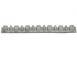 Plaklood 6x2.5 en 7x5 gram (balooha16l) Grijs