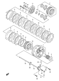 Suzuki TL1000s koppelings delen
