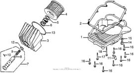 Oliefilter delen en Carter pan delen Honda CB750f CB750k 1968-1978