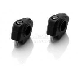 universele STUURVERHOGER 20mm,Zwart,voor 22mm stuur (stver921)