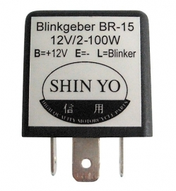12v knipperlicht RELAIS 12v  2-100w 3 pins (ook voor LED)