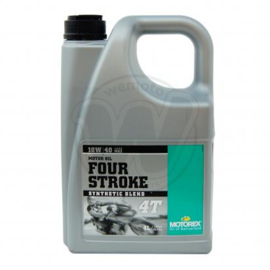 10w40 Motorolie Motorex FOUR STROKE (deelsyntheet) JASO-MA2 sg sh sj sl (4 Liter) (m10w40fs m0397) (bagv)