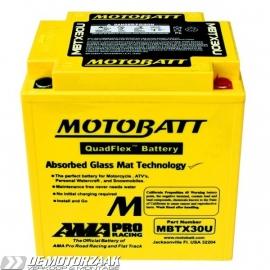 motor accu Yuasa YTX30L (30Ah) -->> MOTOBATT agm (32Ah)