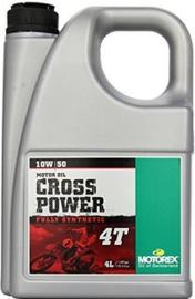 Olie 10w50 MOTOROLIE Motorex Cross Power 4T Synt 4 Liter (vol syntheet) ook KTM (m10w50cp4t)
