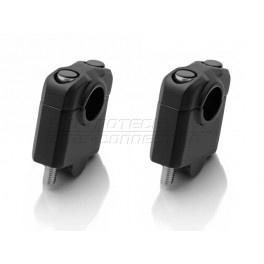 universele STUURVERHOGERS 30mm,zwart,voor 22mm stuur (stver931)
