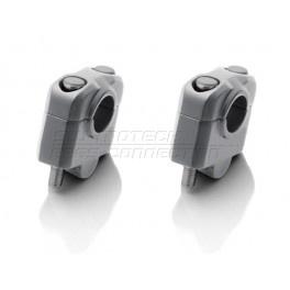 universele STUURVERHOGERS 25mm,grijs,voor 22mm stuur (stver930)