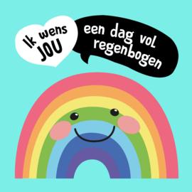 Verjaardagskaart - regenboog