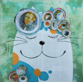 Schilderij | De kat van Vincent