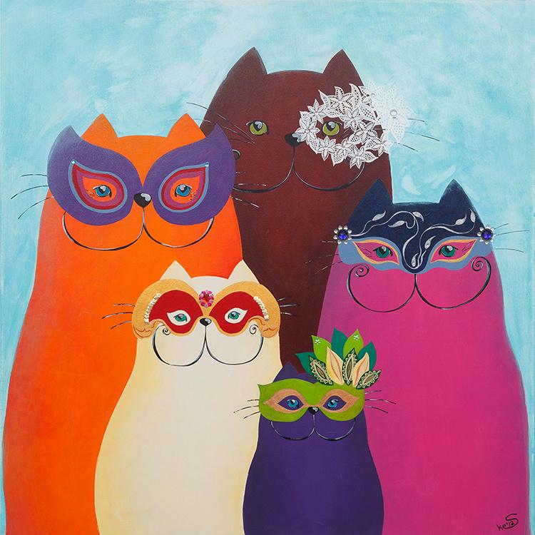 Schilderij | Katten uit Venetie