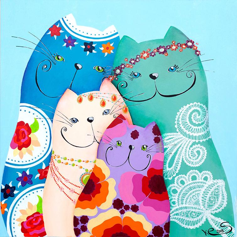 Schilderij | Bohemian katten