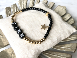 MBR name bracelet *gold black*