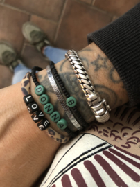 MBR Name Bracelet  *army green*