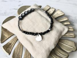 MBR Name bracelet *Silver Black*