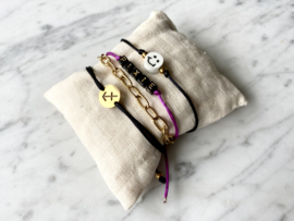 MBR Bracelets * mini initial blocks *