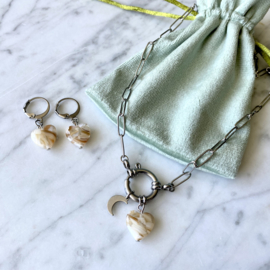 MBR ketting *summer heart with moon love *