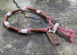 MBR necklace *Diamonds & Pink*