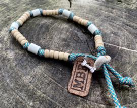 MBR necklace *Aquamarine Blauw, Golden*