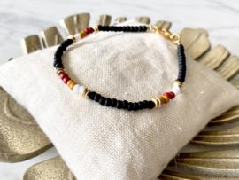 MBR Bracelets * mat zwart mix*