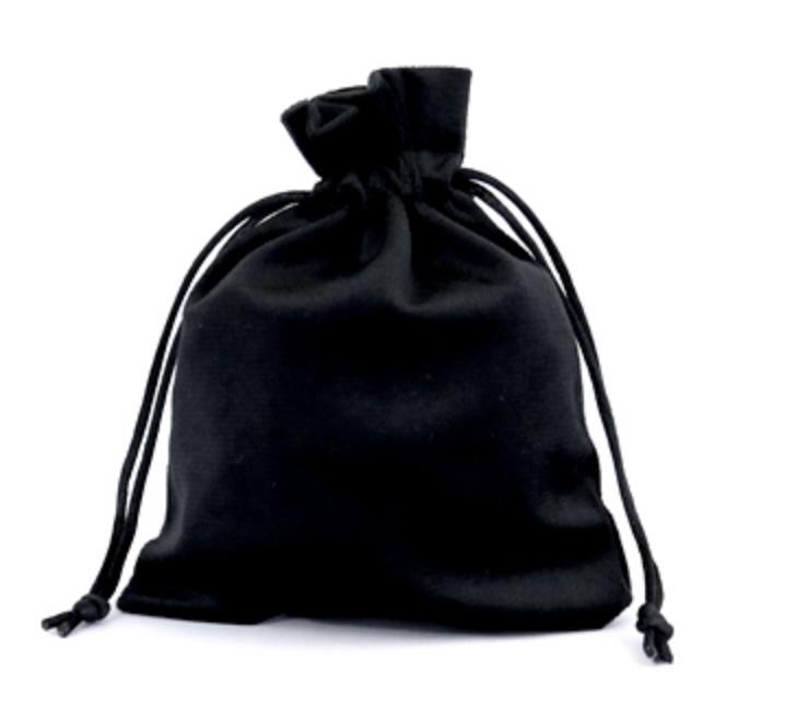 Sieraad zakje velvet Black