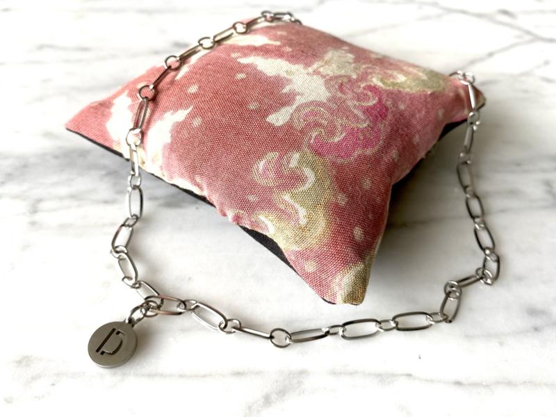 MBR Ketting * silver inital chain*