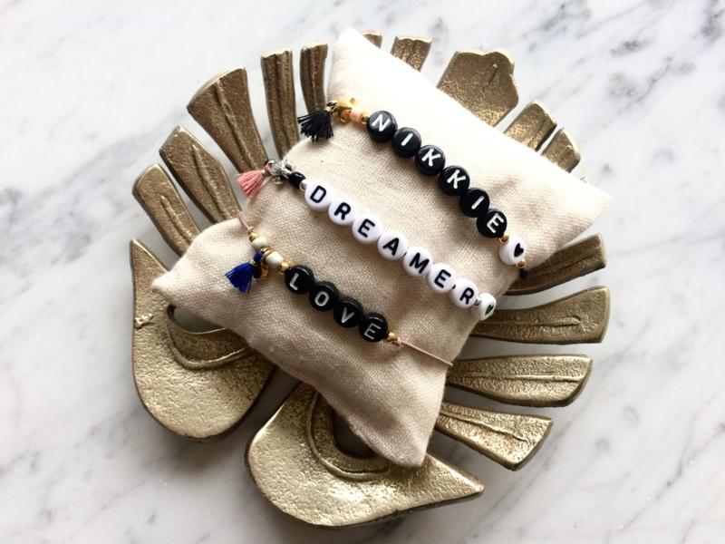 Naam armband *Goud of zilver *