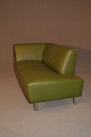 1.9 Sofa in zwart leder