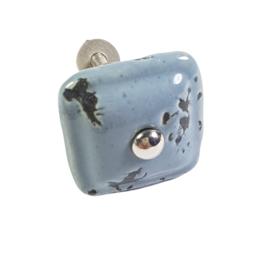 porseleinen knop square grijs
