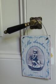 "Label/hanger ""Ma chambre"""