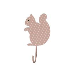 "haak ""eekhoorn"" polkadot roze"