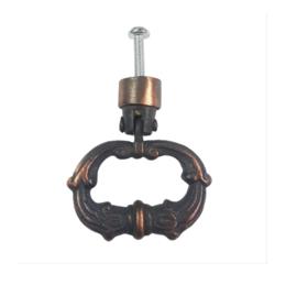 deurknop/ladegreep antique oval-koper