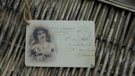 brocante label carte postal