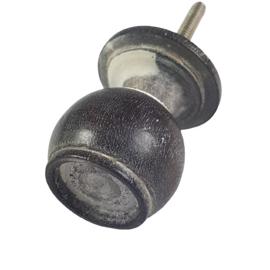 deurknop van hout-grijs