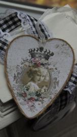 kartonnen hanger/label hart meisje