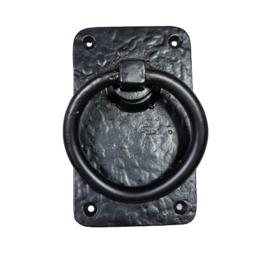 deurklink ring pull L-zw