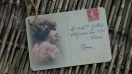 brocante label carte postal Vienne