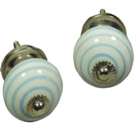 porseleinen knop twist licht blauw