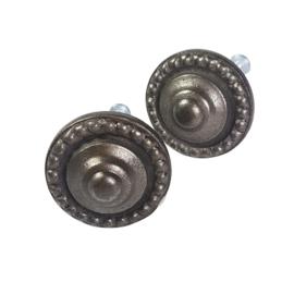 Metalen knop rond MK28