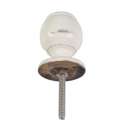 deurknop van hout-wit