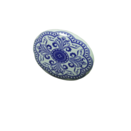 "porseleinen knop ""hollands blauw"""