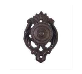 """smeedijzeren deurknop """"ornament"""""""