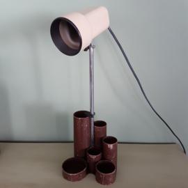 vintage tafellamp met pennenbakje