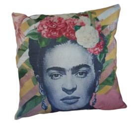 Frida Kahlo sierkussen geel-roze