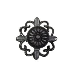 Metalen deurknop French met ronde rozet zwart