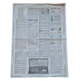 decoupage papier vintage krant